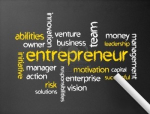 Entrepreneur word art